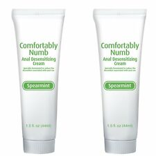 2 Comfortably Numb Anal Desensitizing Cream Lube Lubricant Gel Spearmint Scented