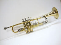 New ADVANCE BRASS NICKEL Finish Bb Trumpet With Free Hard Case+Mouthpiece