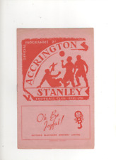 1952-53 Accrington Stanley v Halifax Town 10th September 1952 Division 3 North