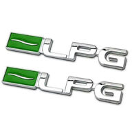 2pcs LPG Emblem Logo Badge auto aufkleber Metall car Sticker  3D LPG Chrom Neu