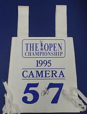Official 1995 Open Golf Camera Bib Signed Autograph Winner John DALY AFTAL COA