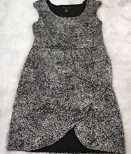 Womens Apostrophe Dress Ruched Size L Wedding Date Night Spring Summer