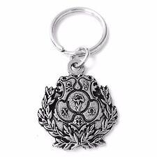 Chi Omega Metal Crest Keychain