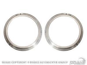 1966-1977 Ford BRONCO Headlight Doors Rings BILLET Aluminum Custom (PAIR)