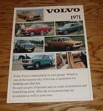 Original 1971 Volvo Full Line Foldout Sales Brochure 71 142 144 145 164 1800 E