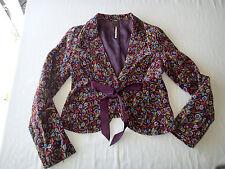 Free People BLAZER,Ladies Jacket,coat SZ 4  floral,velvet boho hippie ay