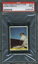 1949 Eureka Sportstamp stamp #144 Robin Roberts PSA 9
