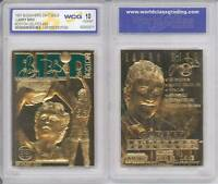 LARRY BIRD 23KT Gold Card Sculpted 1997 Boston Celtics Graded GEM MINT 10 *BOGO*
