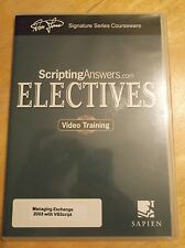 ScriptingAnswers Managing Exchange 2003 with VBScript DVD RARE Don Jones