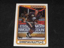 Buffalo Sabres CHristian Ruuttu Signed 1990/91 Topps Card #182  TOUGH  SR