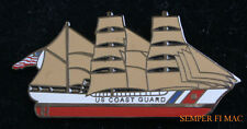 SAIL BOAT HAT LAPEL PIN USCG US COAST GUARD TALL SAILING SHIP GRADUATION GIFT