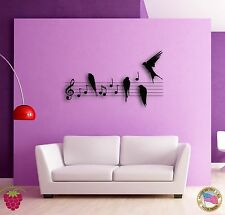 Wall Sticker Birds Notes Music Musicians The Coolest Decor For Living Room z1521
