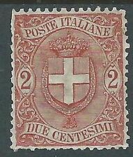 1896-97 REGNO STEMMA 2 CENT MH * - Y140