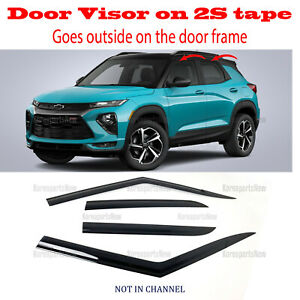 2020-2021 Chevy Trailblazer DOOR SIDE WINDOW VENT VISORS RAIN GUARDS ⭐4pcs⭐ Set