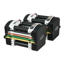 PowerBlock U70 Stage 1 Adjustable Dumbbells Selectable Weights - 2-18kg Pair