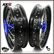 KKE 3.5/4.25 Supermoto Wheels Set For YAMAHA WR250F 2001-2019 WR450F 2003-2018
