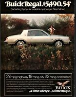 1978 BUICK Regal Silver Sport Coupe 2-dr Vintage Seventies 70s Car Photo AD