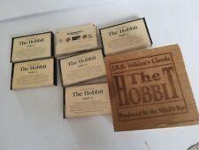 6 Cassette Box The Hobbit J.R.R. Tolkien 1979 In Wooden Box Complete #132
