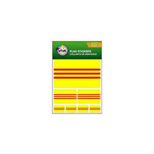 SOUTH VIETNAM , SET OF 7  COUNTRY FLAG VINYL CAR STICKERS , 3 SIZES..NEW
