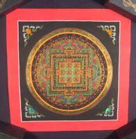 Mixed gold Ohm Mandala  Thangka Thanka painting Nepal Art A23