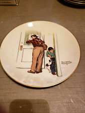 """New listing 1979 Norman Rockwell Limited Edition Gorham Spring - Closed For Business,10 3/4"""""""