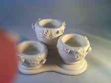Partylite Ivory Bisque Triple Rosebud Urn Candleholder Votive Tealight White