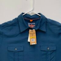 Dockers Mens Designer Polo Blue Medium NWT
