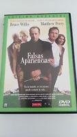 FALSAS APARIENCIAS DVD EDIC ESPECIAL BRUCE WILLIS MATHEW PERRY CASTELLANO INGLES