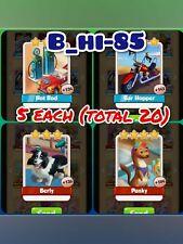 Coin Master Cards 5 Each Berly Punky Hot Rod Bar Hopper ( total 20)