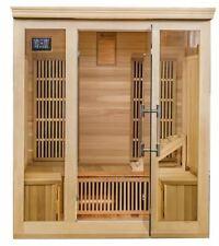 Hybrid Cedar Elite 3-4 Person Premium Sauna with 9 Carbon Heaters S