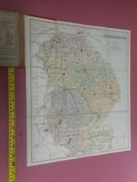 100% ORIGINAL LINCOLNSHIRE  FOLDING MAP ON LINEN BY PHILLIPS  C1890/S  VGC