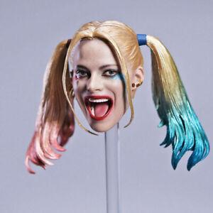 "1/6 Suicide Squad Harley Quinn Removable Braid Head Sculpt For 12""Action Figure"