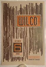 Wilco Limited Edition (/300) Poster 10/6/2009 Kansas City, Missouri, Hammerpress