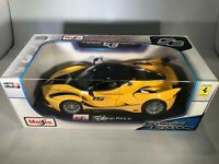 Ferrari FXX K 1:18 Diecast Model Car Rare Brand New In Yellow By Maisto
