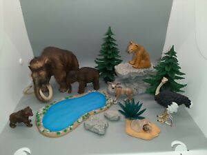 Rare Retired Schleich Figurines With Nature Accessories