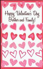 Valentine's Day Greeting Card, FOR BROTHER AND FAMILY
