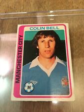 Manchester City TOPPS Football Card MCFC Colin Bell 1979 Blue Back #213