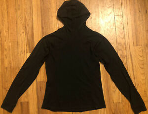 Patagonia women's size S M L Black Wool Running Hoody Fitted Merino