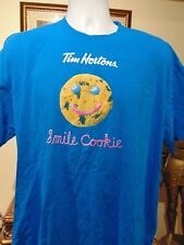 TIM HORTON'S COFFEE NEW Smile Cookie Image 2 Two Sided STAFF T Shirt 2XL