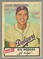1954 Dan Dee GIL HODGES Brooklyn Dodgers