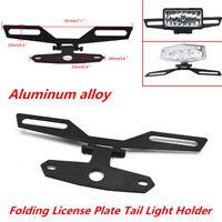 Foldable Motorcycle ATV Flip Up License Plate Eliminator Bracket for Rear Fender