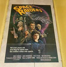 original SPACE RAIDERS one-sheet poster Roger Corman