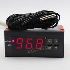 AC 110V Fahrenheit Mini Digital Temperature Controller Thermostat Aquarium Relay