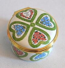 "Halcyon Days English Enamels ""Love To You"" Valentines Day 2002 Trinket Box"