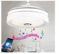 "42"" Ceiling Fans Light Chandelier Remote & Bluetooth Control Speaker Fixtures"