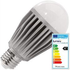 Lumira LED SMD Lampe Leuchte Birne 14W Watt Aluminium E27 A60 Warmweiß Dimmbar