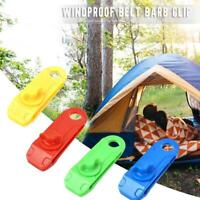 Awning Clamp Tarp Clips Snap Hangers Tent Camping Outdoor Tighten Tool