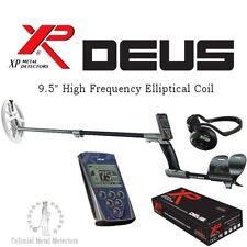 """XP Deus with 9.5"""" DD High Frequency Elliptical Coil + WS4 Headphones + Remote"""