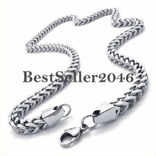 Silver Mechanic Stainless Steel Men's Link Chain Necklace 22 inch Long Neckware