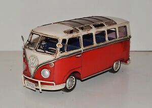 Blechauto Modellauto Oldtimer Automarke VW Bulli Modell T1 Bus rot L 32 cm Blech